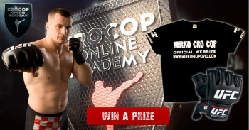WIN A PRIZE! Win the UFC gloves signed by Cro Cop and a T-shirt
