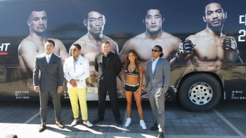 Cro Cop, Henderson, Kim and Akiyama held a press conference in Seoul